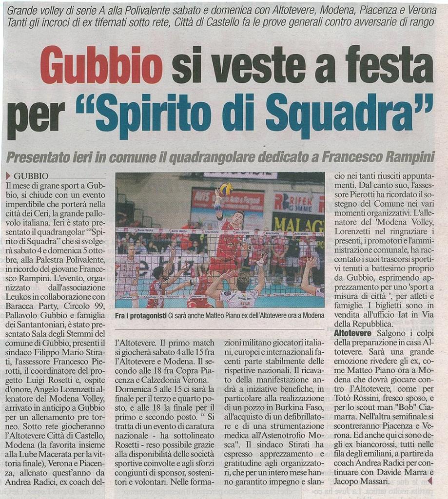Corriere dell'Umbria - 02.10.14