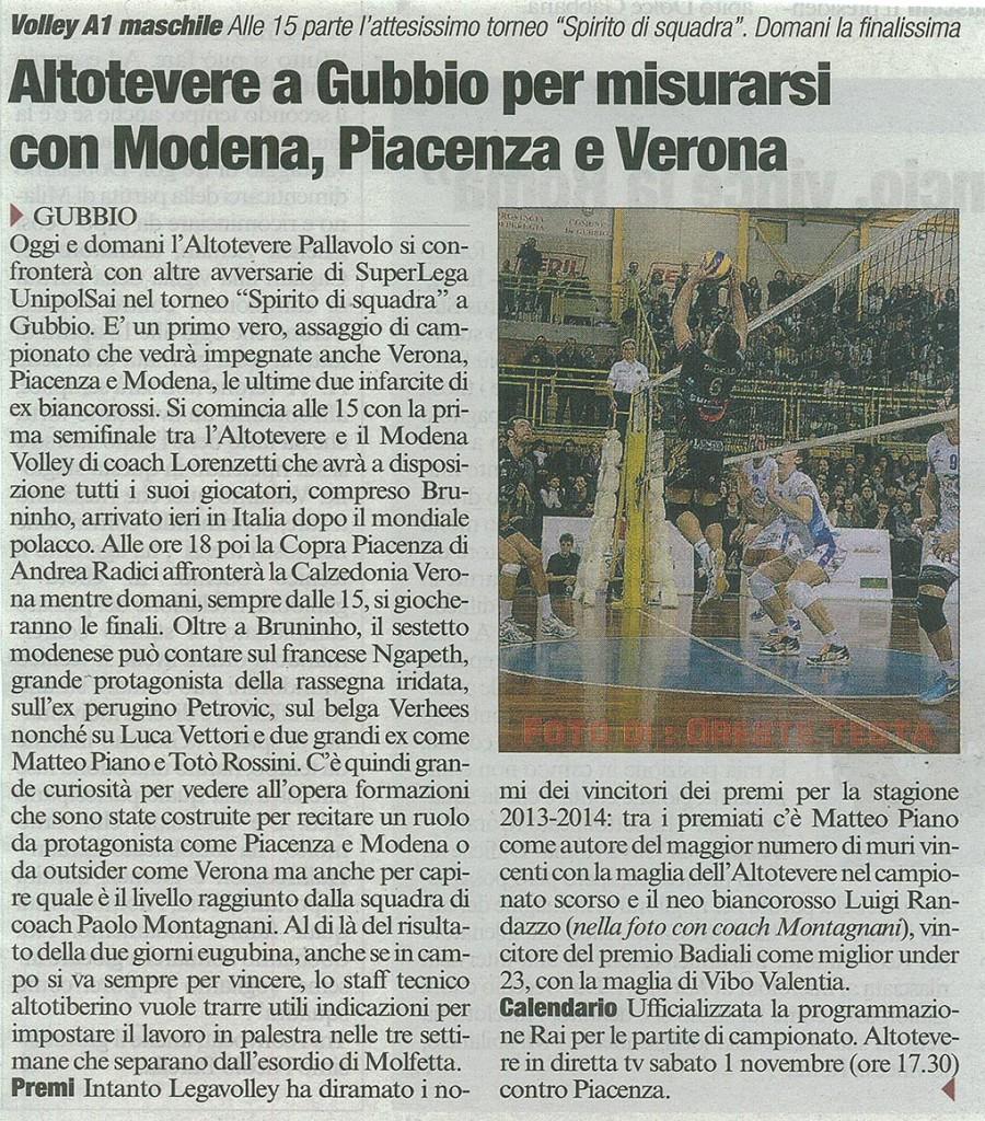 Corriere dell'Umbria - 04.10.14