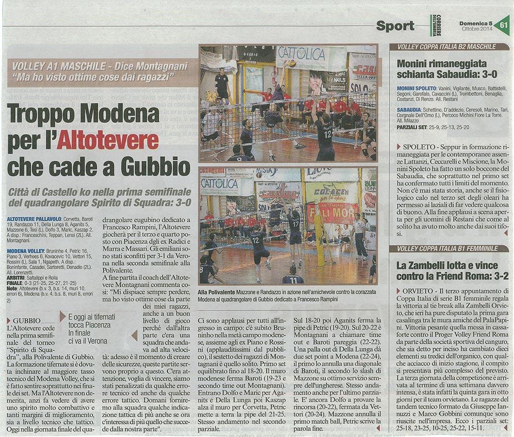Corriere dell'Umbria - 05.10.14
