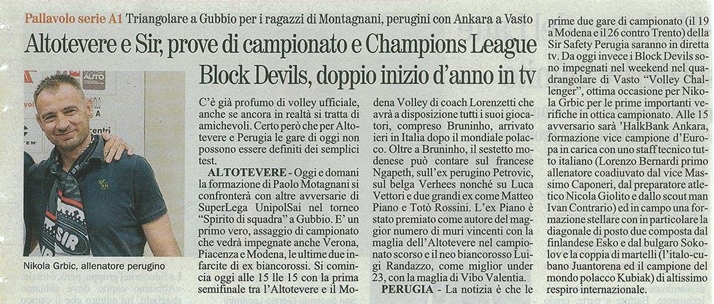 Giornale dell'Umbria - 04.10.14