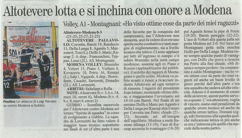 Giornale dell'Umbria - 05.10.14