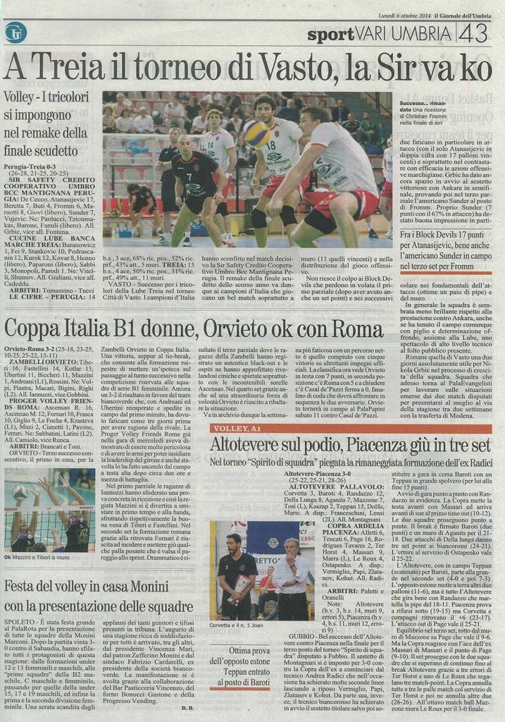 Giornale dell'Umbria - 06.10.14