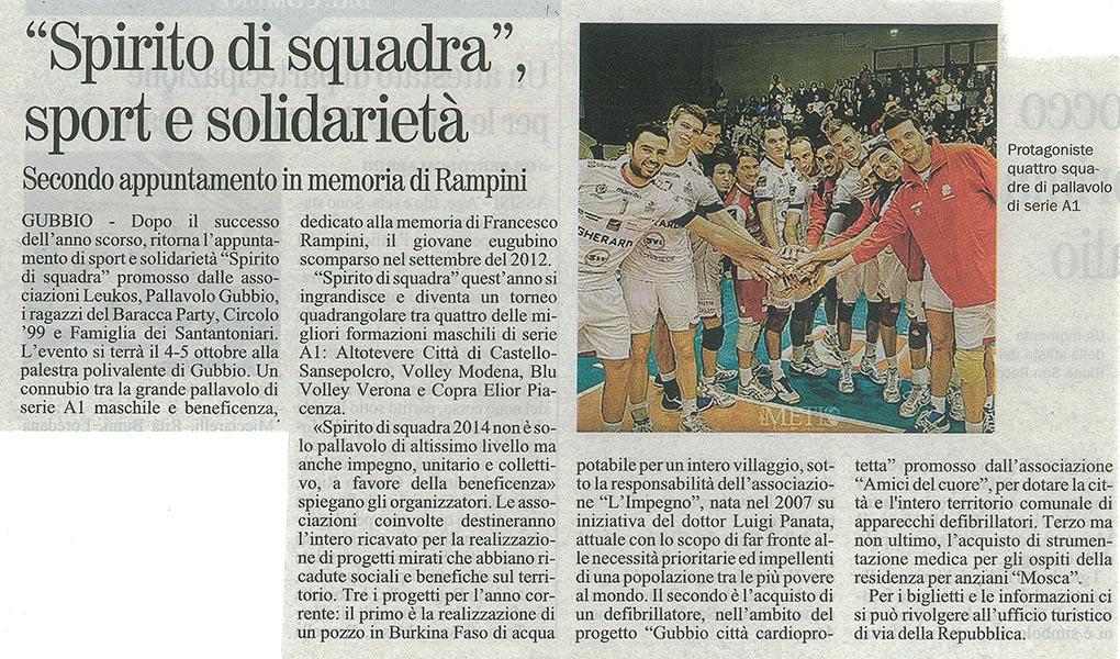 Giornale dell'Umbria - 27.09.14