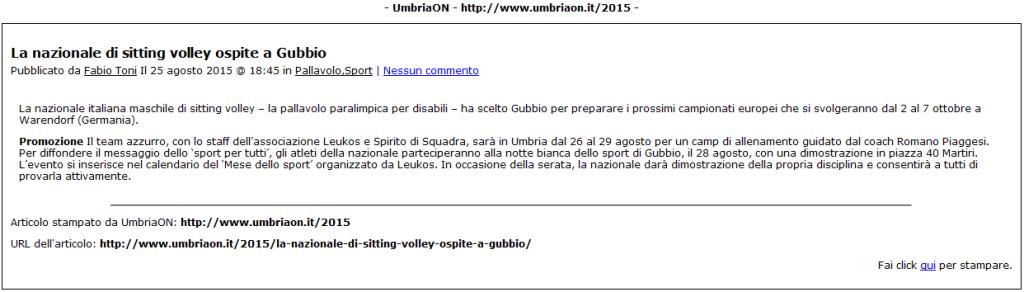 UmbriaON.it del 25.08.15